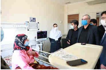 بازدید وزیر بهداشت از بیمارستان امام حسین (ع) مهران